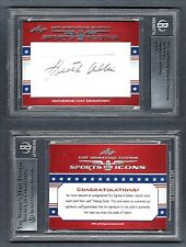 BGS 2011 Leaf Sports Icons Cut Signature Autograph Keith Allen 3/3 G00 1260