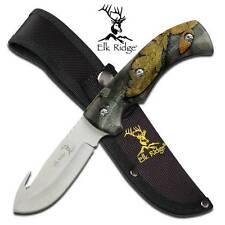 Elk Ridge Camo Gut Hook Hunter Fixed Hunting Knife Skinner Mossy 274FC