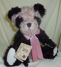 Bamboo Bearington 16in black & rose plush Panda Boyds teddy bear in box 590030
