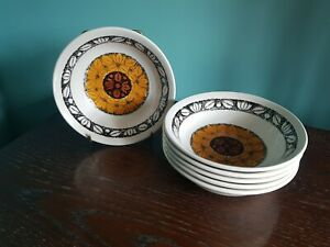 6 Kathie Winkle Tashkent Bowls  Rare Broadhurst Ironstone