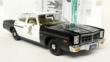Greenlight 1/18 Scale - 1977 Dodge Monaco Police + Terminator Diecast model car