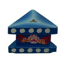 Support en bois peint pour Phurba-Purba-Vajrakila-Skull- stand-7.8 cm - 6665