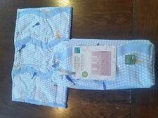 Nwt Ecobibi Organic Cotton Crib Bumpinis Crib Bumpers Baby Blue Fish Pattern $65