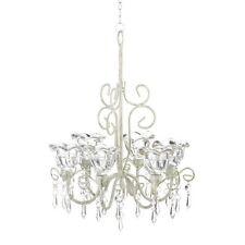 New Chandelier Candle Holder Crystal Blooms Elegant Ceiling Decor Hallway Accent