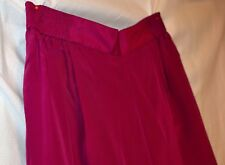 "Diane Gilman Fuchsia Silk Pants Lined in Silk/Pockets,Elastic Back-NWOT-M-30""Lng"