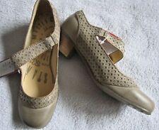 NEU Mustang Spangenpumps Pumps sand beige braun flach 39 Ballerinas Schuhe Leder