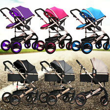 9 IN 1 BABY TODDLER PRAM STROLLER JOGGER ALUMINIUM WITH BASSINET KIDS PUSHCHAIR