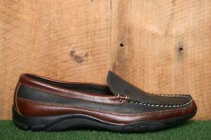 ALLEN EDMONDS 'Boulder' Black & Brown Leather Driving Loafers Sz. 11D