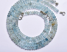 """1 stand MULTI-COLOR SMOOTH MOSS AQUAMARINE RONDELLE BEADS Neck. 4.5 to 5 MM 18"""""""