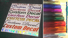Custom Personalized CHROME VINYL Sticker Decal YOUR CUSTOM TEXT