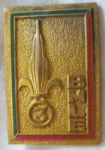 IN14419 - INSIGNE 3° Bataillon de Marche L.E, vert foncé, émail, Rue de Rennes