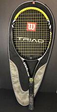 New listing Wilson Hyper Hammer Carbon 6.3 oversize 4-1/8 Tennis Racquet With Carrying Case