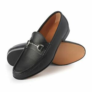 Men's Gucci Loafers Black Leather Horse Bit Shoes Brand New With Box RRP £535