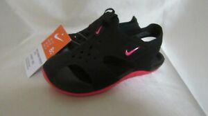 TODDLER GIRL`S NIKE SUNRAY PROTECT SANDALS SIZE 8 TODDLER NEW/W/T BLACK/ RACER P