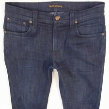 Mens Nudie TAPE TED Stretch Slim Tapered Blue Jeans W32 L34