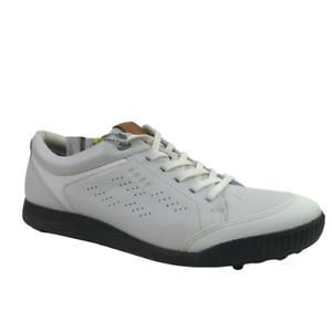 New Ecco Mens Street Retro 2.0 Hydromax Golf Shoe 150614 Bright - White -US 10