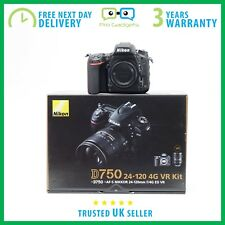New - Nikon D750 24.3MP DSLR Camera Body Only - Kit Box - 3 Year Warranty