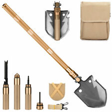 Wild Peak 18-in-1 Multi-tool Steel Emergency Survival Shovel with Pouch (Gold)