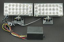 2x 22 LED White Strobe Emergency Flashing Warning Light for Car Truck Motorcycle