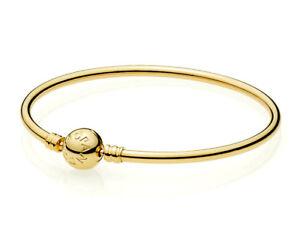 PANDORA Moments Bangle Bracelet 14K Gold Vermeil Plated 590713