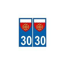 30 Gard autocollant plaque blason armoiries stickers département arrondis