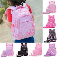 3PCS/Set  Women Backpack Student School Shoulder Bag Rucksack Nylon Travel Bags