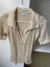 Chaiken Short Sleeve Top, Ladies Tops, Over the Head Polo Shirt, Knit Sweater