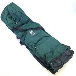 Golf Club Travel Bags Green Black Dual Strap System Zip Hook And Loop New
