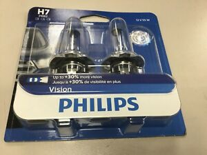 Philips H7 Vision Upgrade HeadLight Bulb, 2-Pack H7PRB2
