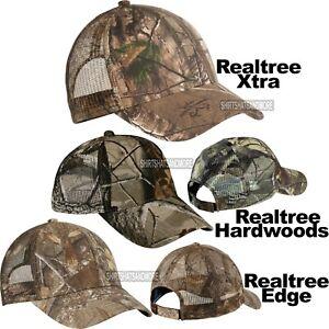 Camo Mesh Back Baseball Cap Hunting Hat Realtree Hardwoods, Xtra, Edge NEW