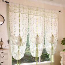Green Curtain for Door Elegant Voile Drapes for bedroom,Kitchen 3 Sizes