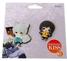 Kamisama Kiss SD Tomoe & Nanami Small PVC Pin Set of 2 Cute New License Official