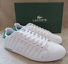LACOSTE Graduate Mens White Green Leather Lace Sneakers Shoes US 10.5 M NWB