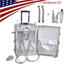 Portable Delivery Unit Cart Suitcase Compressor Dental Equipment Handpiece Kit