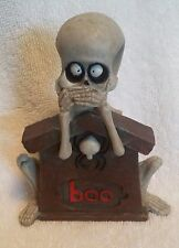 Halloween New Skeleton Figurine Party Home Decor Centerpiece Tombstone Spider