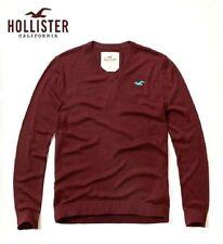Hollister Patternless V Neck Jumpers & Cardigans for Men