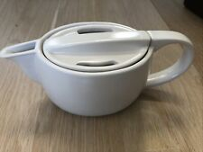 New listing Zarafina Modern Ivory Ceramic Tea Pot Kettle with Lid Discontinued Rare Euc
