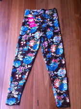 New Fashion Design Winter Warm Thick Flower Pant Legging Stretch One Size