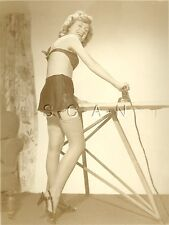 Original Vintage 1940s-50s Semi Nude Pinup RP- Perfect Wife- Stockings- Heels