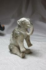 Elephant Jointed Snow Baby Bisque Germany c1910 Vintage Christmas Holiday Rare