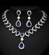 83.50 CT T. WT OF Blue Sapphire ,Pearl & Diamond Combinations Beautiful Necklace