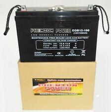 Batteria AGM 100Ah / 20h  x  Servizi  (CAMPER , NAUTICA )  -  PER USO CICLICO