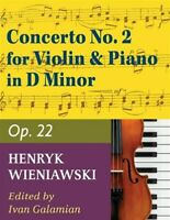 Wieniawski Henryk Concerto 2 in d minor Op. 22. Violin and Piano. by Ivan Gal...