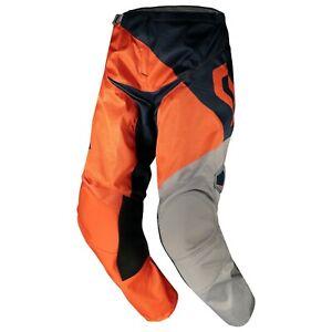 Neuf SCOTT Motocross MX Pantalon 350 Dirt Pantalon Orange/Bleu 268615