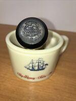 OLD SPICE SHULTON SHIP RECOVERY~SALEM~1794 SHAVING MUG W/ STANHOME BRUSH