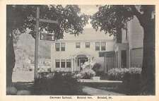 Bristol Vermont Inn Cerman School Exterior Antique Postcard K28313