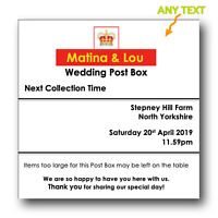 Personalised Royal Mail Any Size Birthday Post Box Wedding Card Box 4x4 Sign