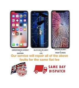 IPhone X screen replacement service / OLED and Glass / Same day repair