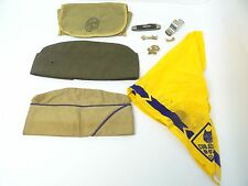 Mixed Lot Vintage Military Army Boy Scout Pocket Knife Hats Whistle BSA Pin
