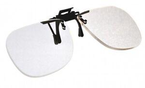 Magna-flip Clip on Flip up Magnifiers, +4.00  Power Converts Distance Glasses